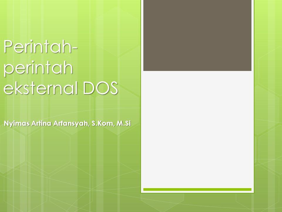 Perintah-perintah eksternal DOS