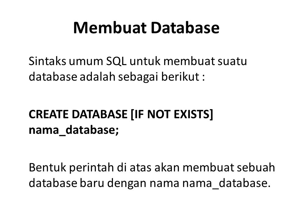 Membuat Database