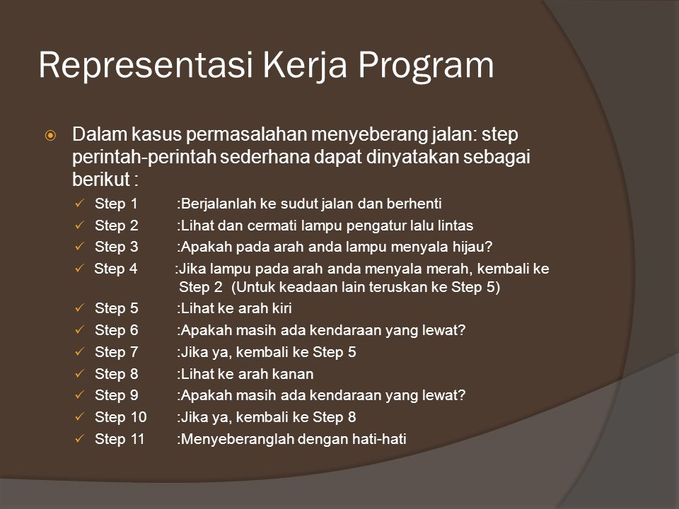 Representasi Kerja Program