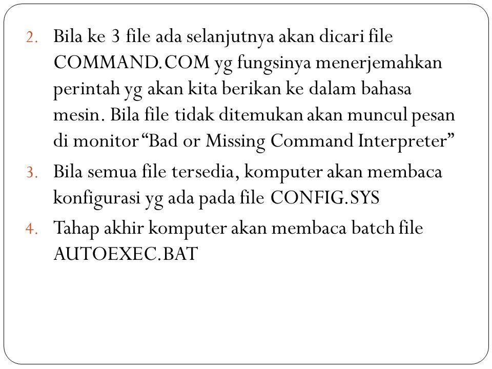 Bila ke 3 file ada selanjutnya akan dicari file COMMAND