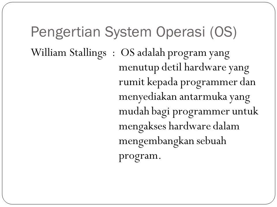 Pengertian System Operasi (OS)