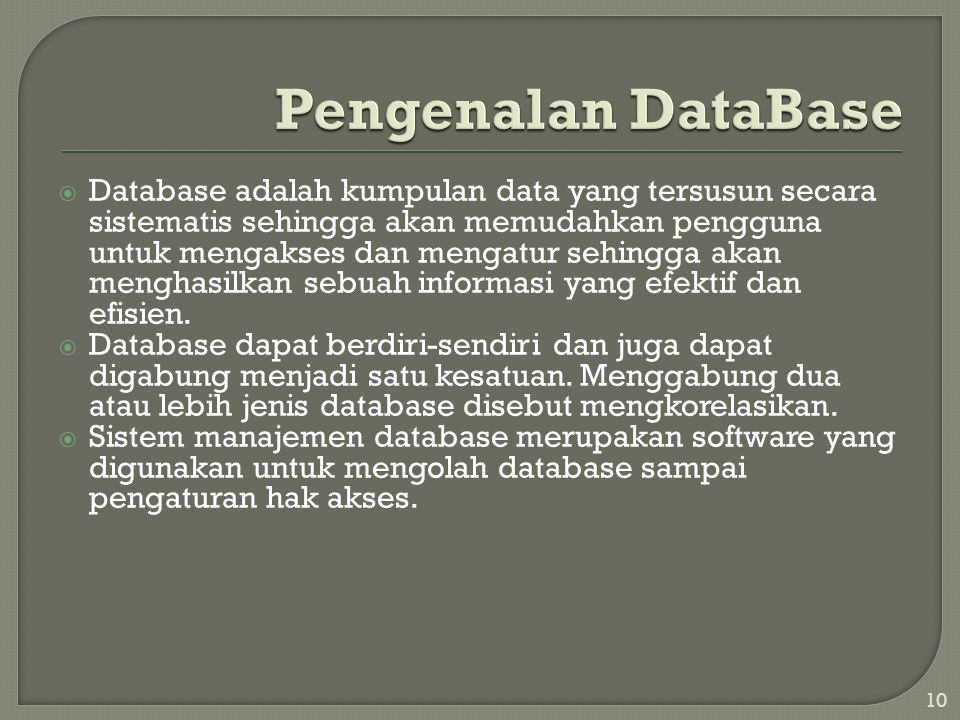 Pengenalan DataBase