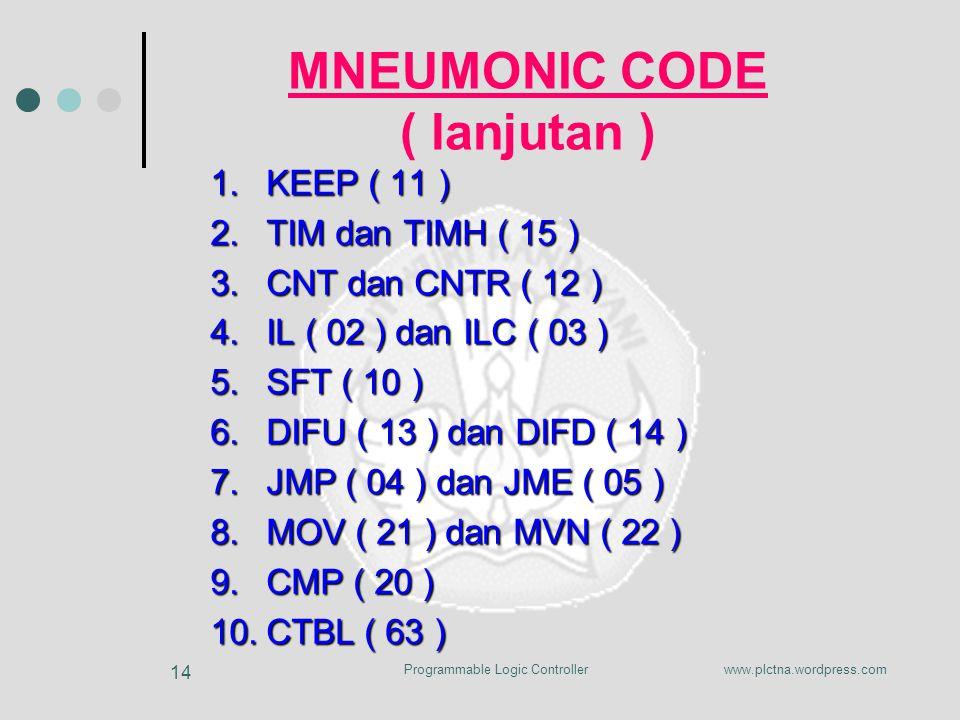 MNEUMONIC CODE ( lanjutan )