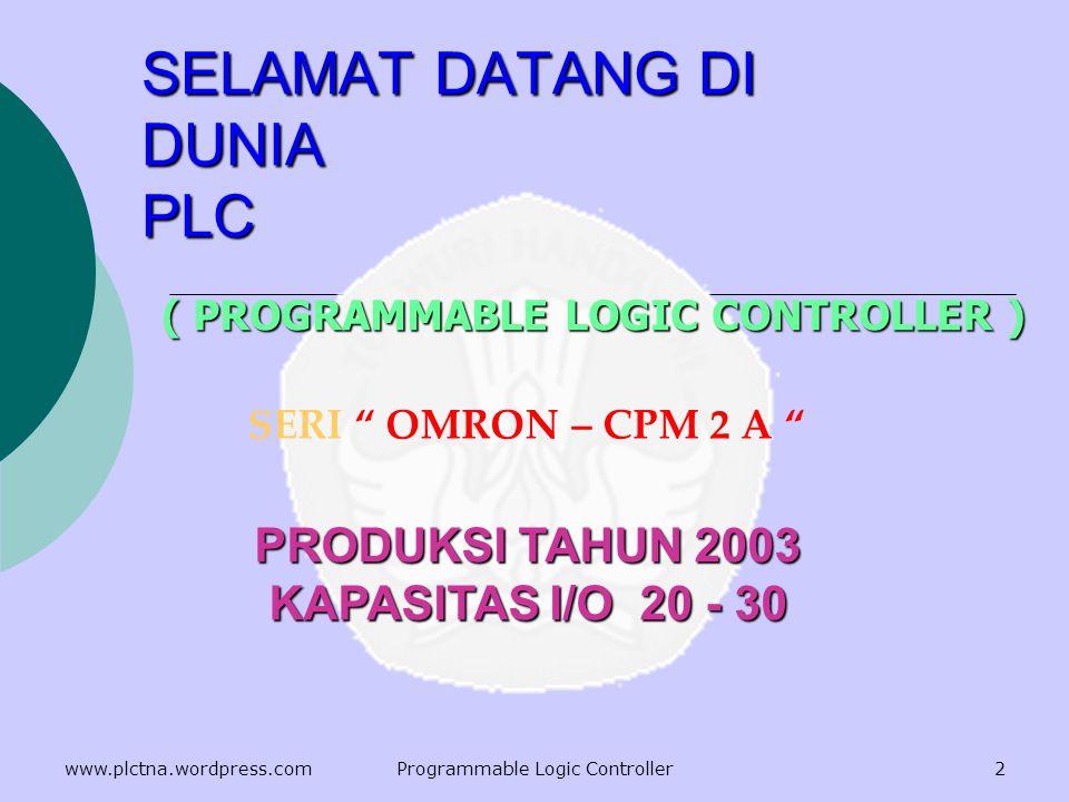 SELAMAT DATANG DI DUNIA PLC