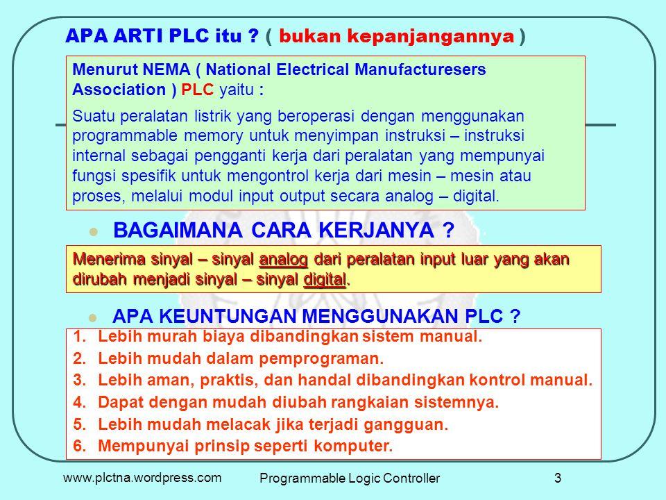 APA ARTI PLC itu ( bukan kepanjangannya )