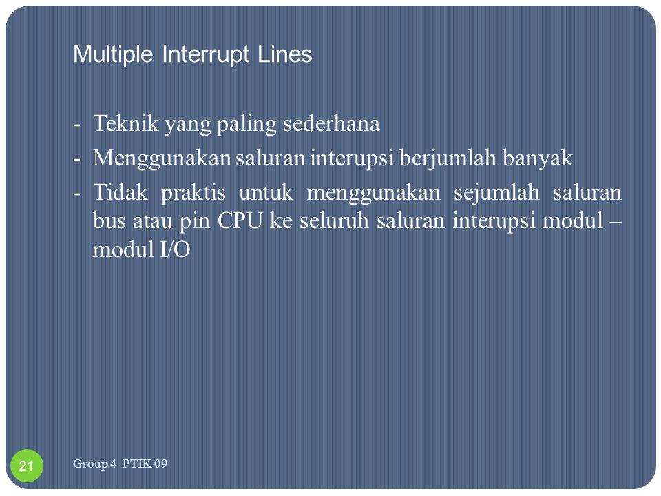 Multiple Interrupt Lines
