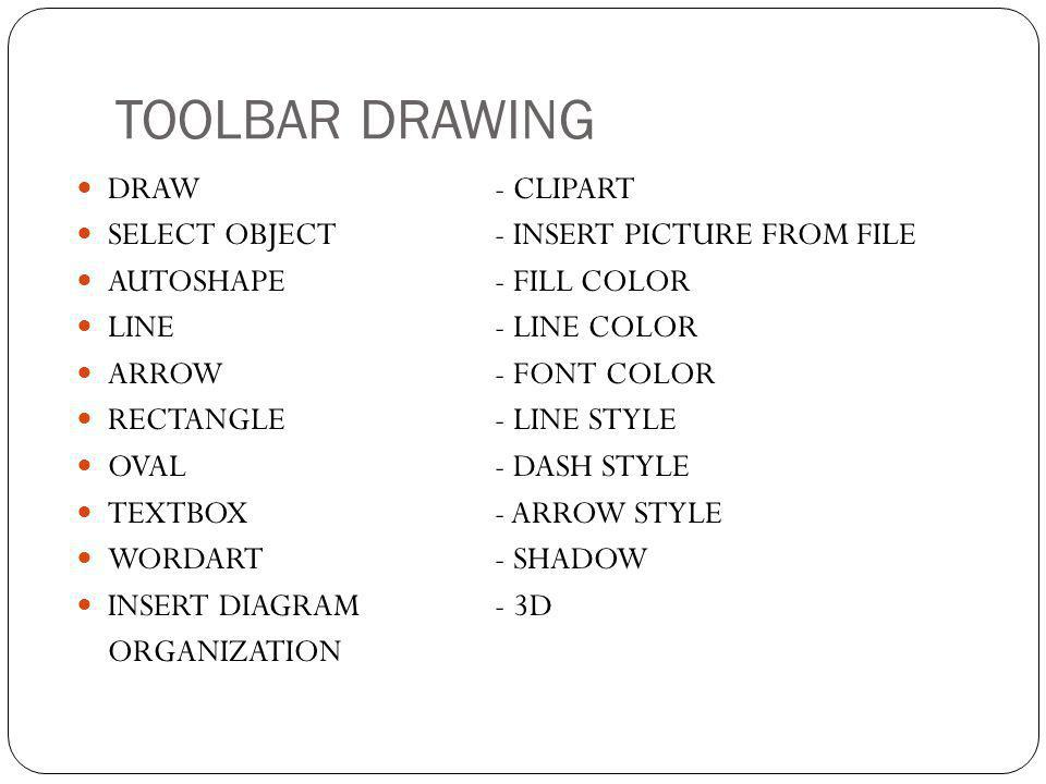 TOOLBAR DRAWING DRAW - CLIPART