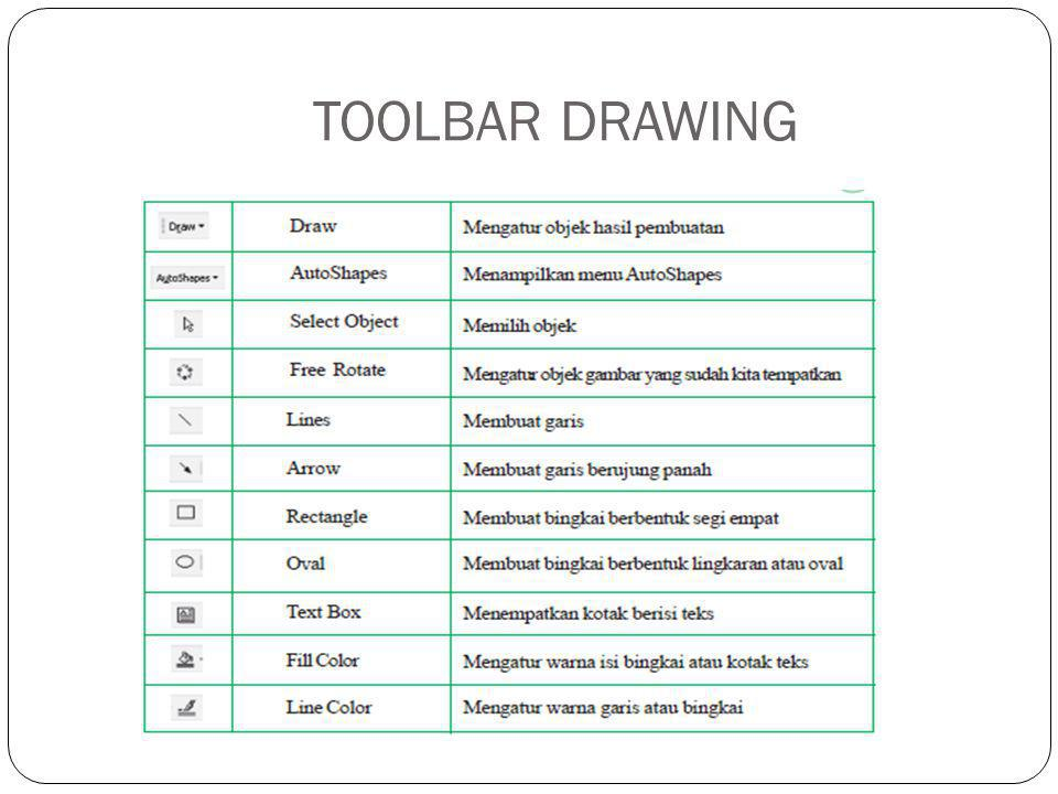 TOOLBAR DRAWING