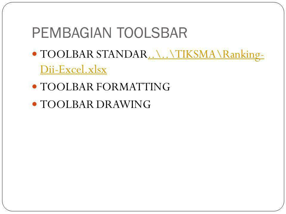 PEMBAGIAN TOOLSBAR TOOLBAR STANDAR..\..\TIKSMA\Ranking- Dii-Excel.xlsx