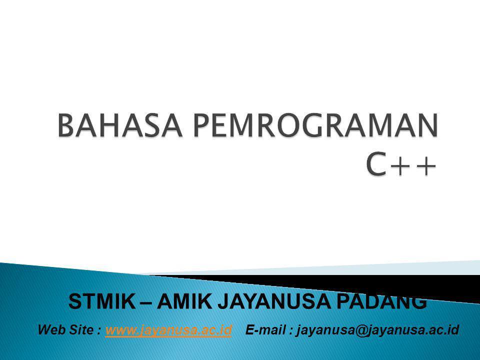 BAHASA PEMROGRAMAN C++