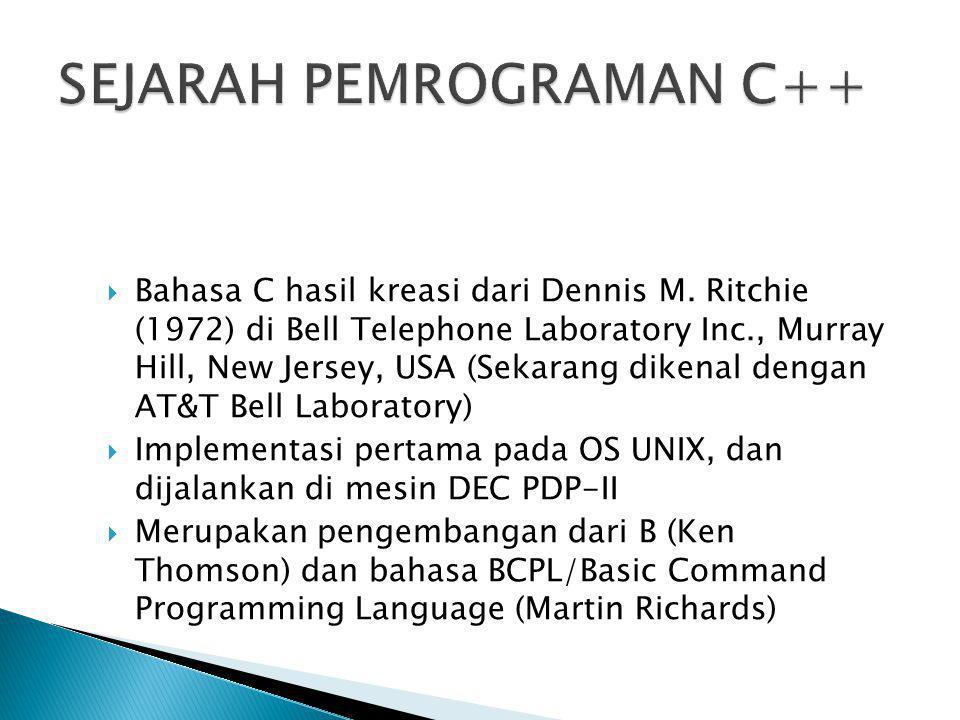SEJARAH PEMROGRAMAN C++