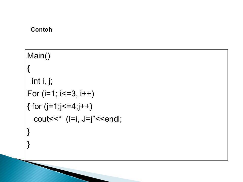 cout<< (I=i, J=j <<endl; }