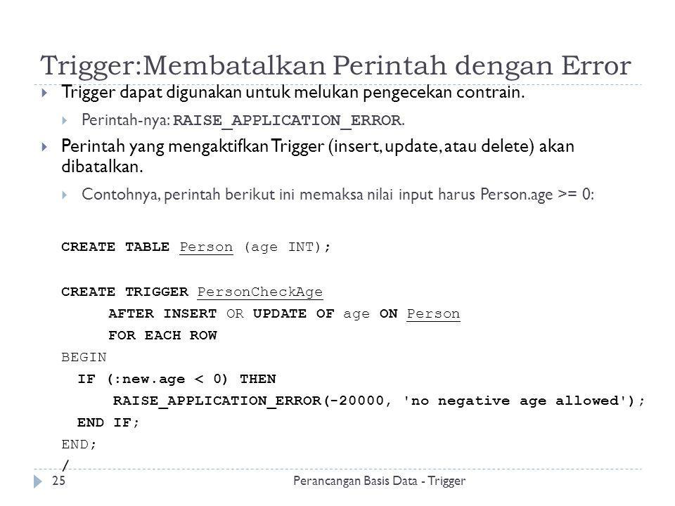 Trigger:Membatalkan Perintah dengan Error