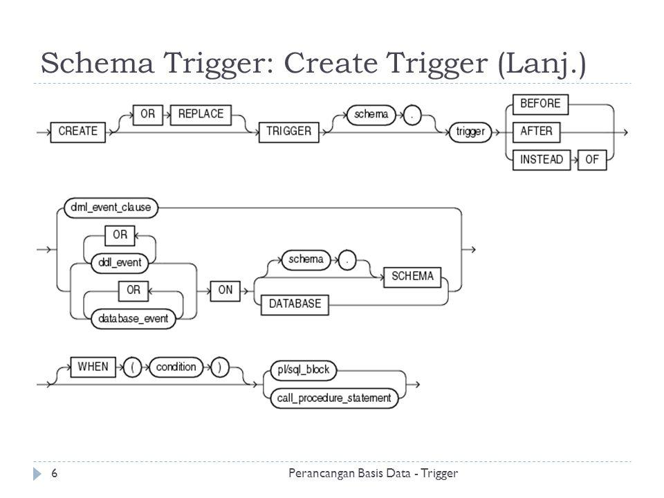Schema Trigger: Create Trigger (Lanj.)