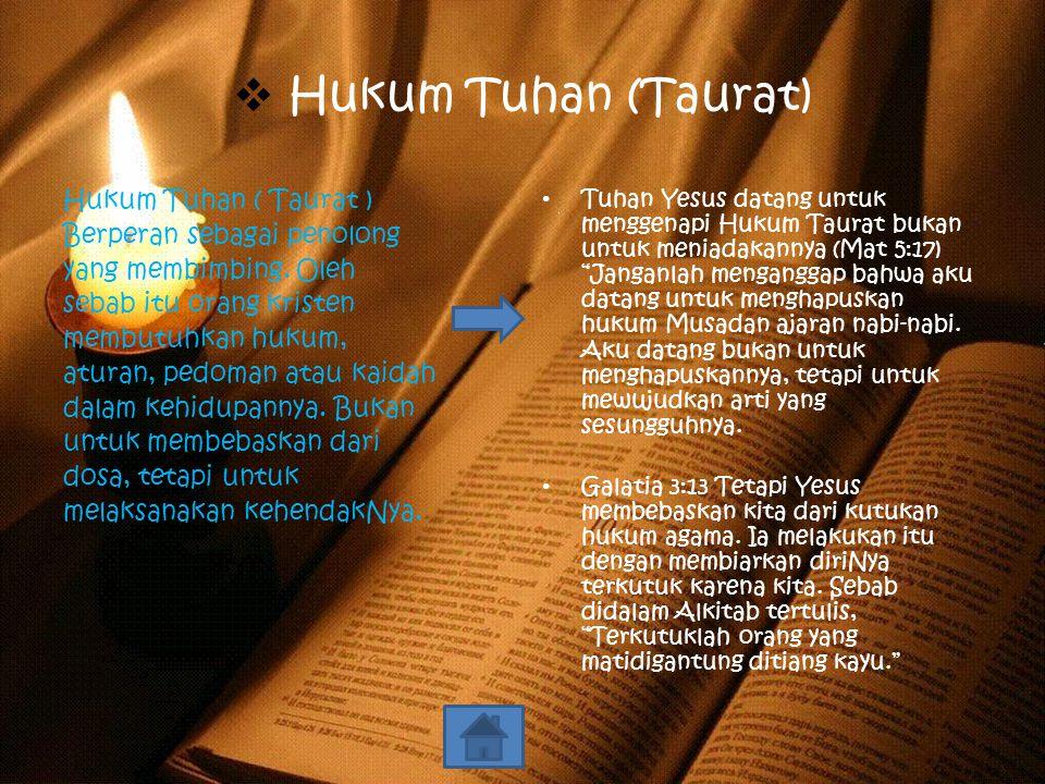 Hukum Tuhan (Taurat)