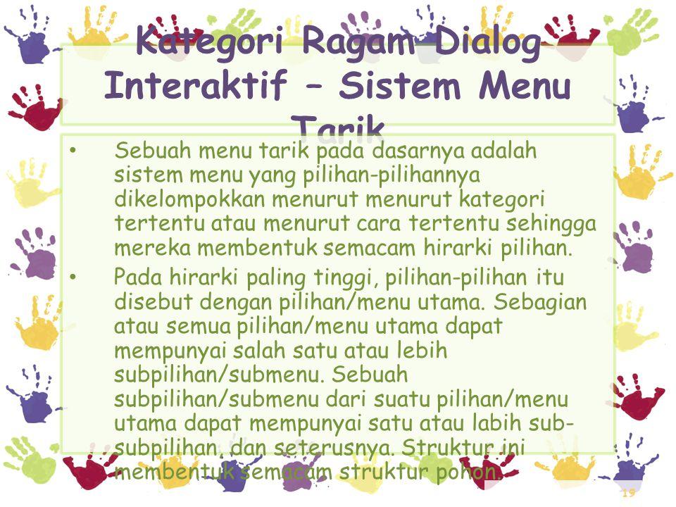 Kategori Ragam Dialog Interaktif – Sistem Menu Tarik