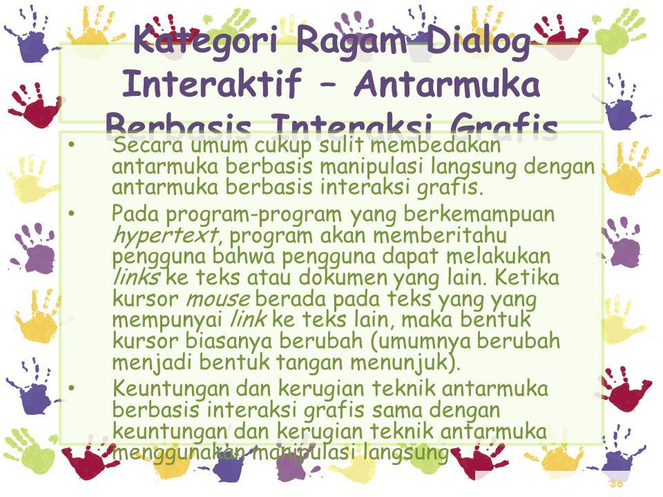 Kategori Ragam Dialog Interaktif – Antarmuka Berbasis Interaksi Grafis