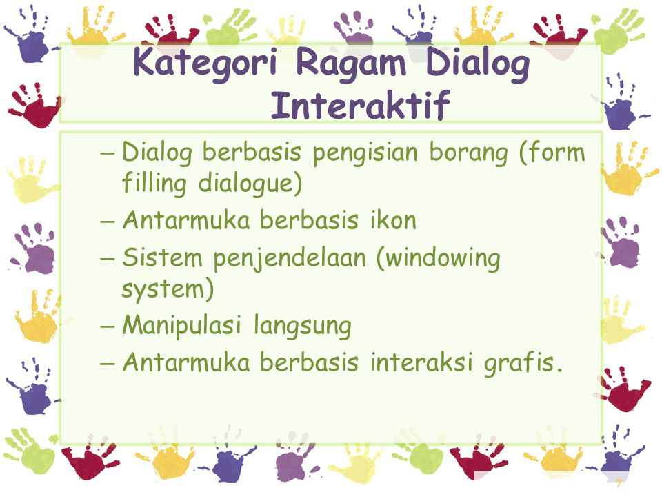 Kategori Ragam Dialog Interaktif