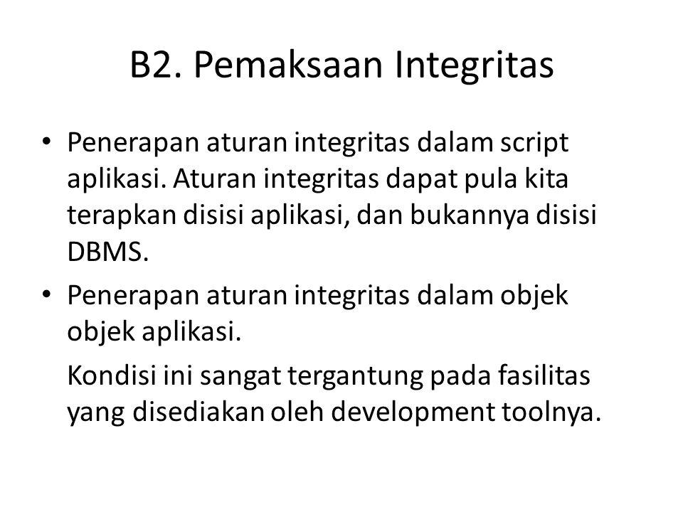 B2. Pemaksaan Integritas