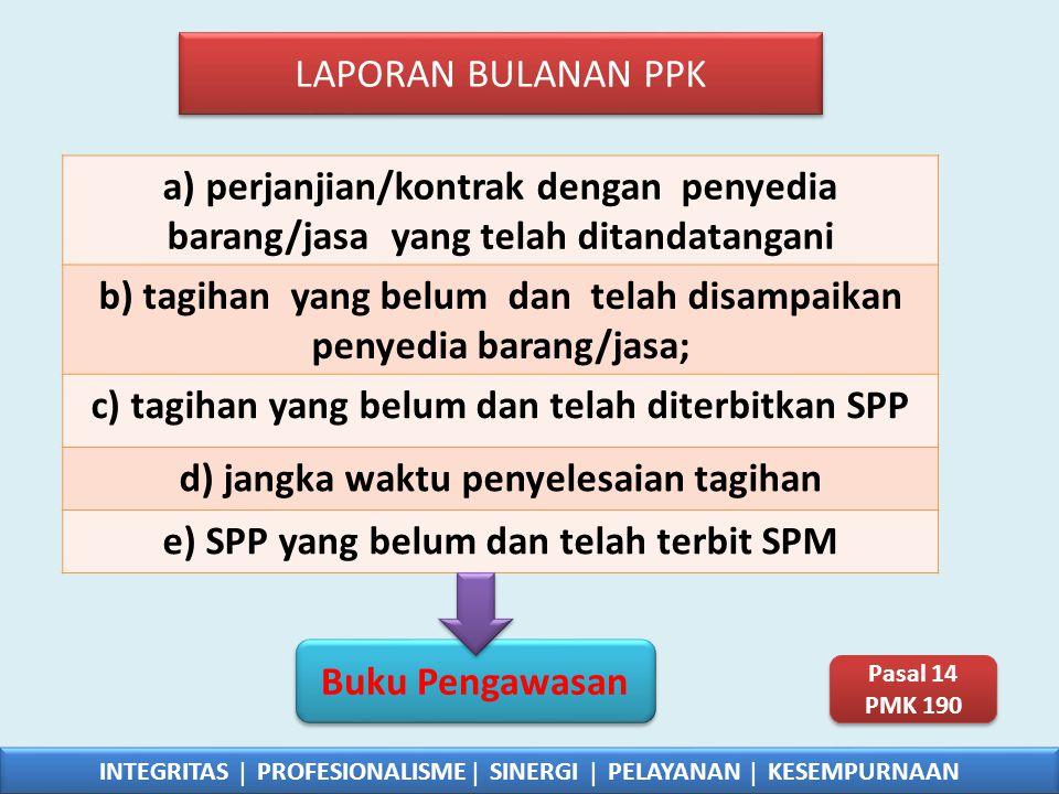 b) tagihan yang belum dan telah disampaikan penyedia barang/jasa;