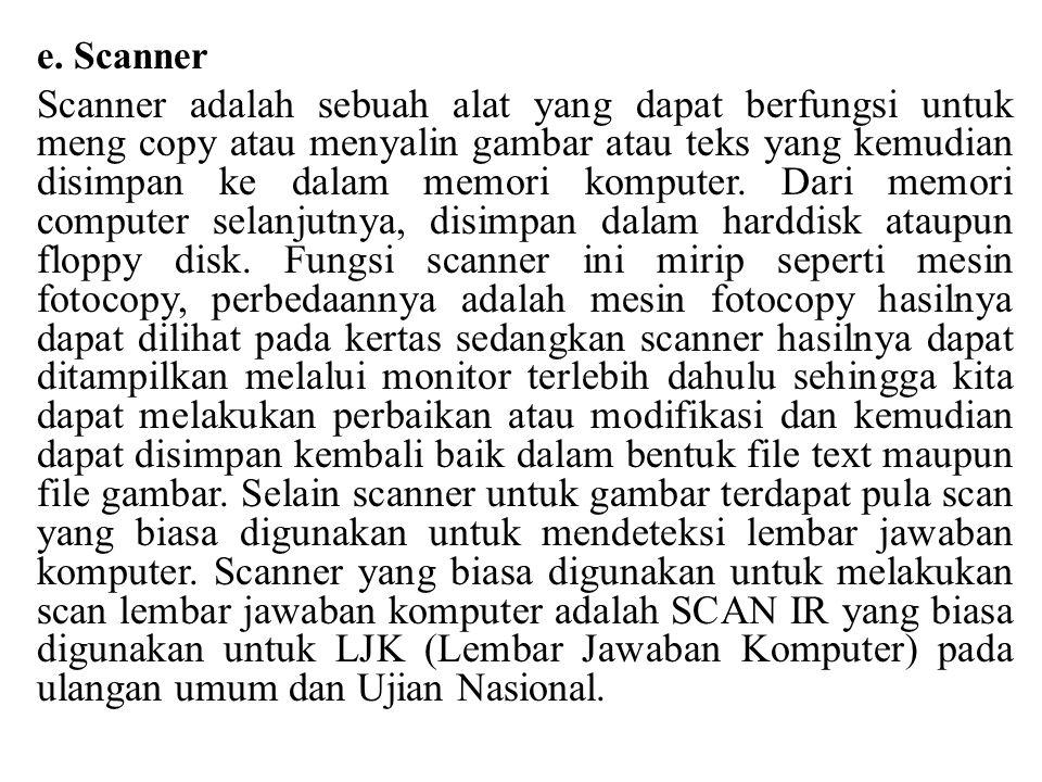 e. Scanner