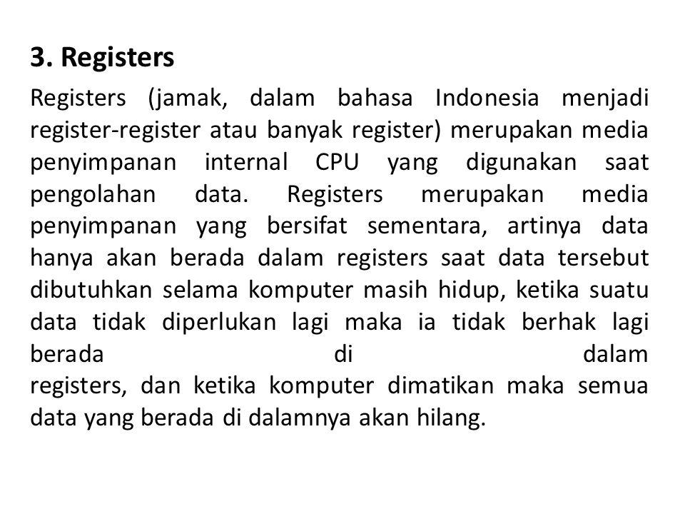 3. Registers