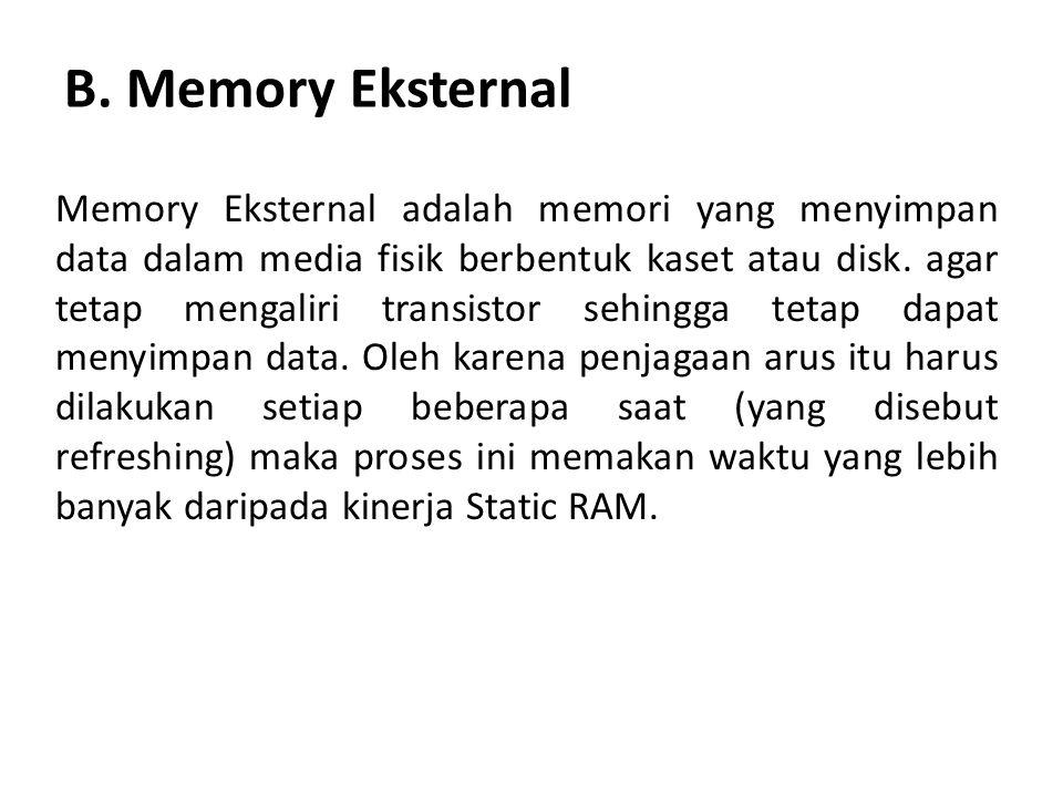 B. Memory Eksternal