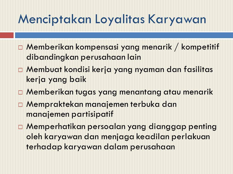 Menciptakan Loyalitas Karyawan