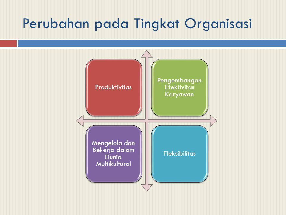Perubahan pada Tingkat Organisasi