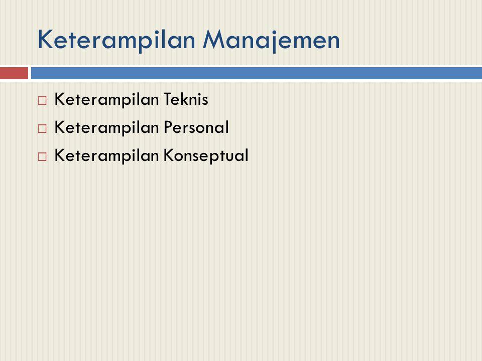 Keterampilan Manajemen