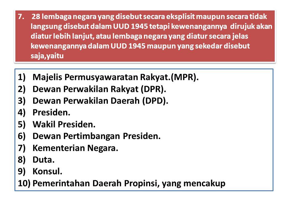Majelis Permusyawaratan Rakyat.(MPR). Dewan Perwakilan Rakyat (DPR).