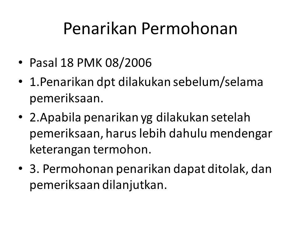 Penarikan Permohonan Pasal 18 PMK 08/2006