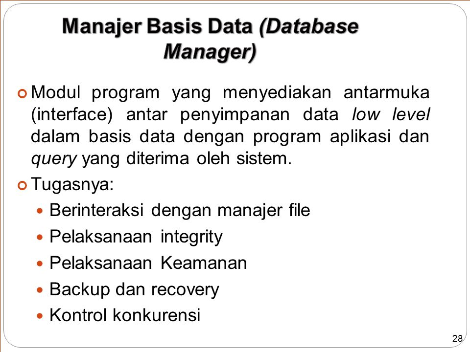 Manajer Basis Data (Database Manager)