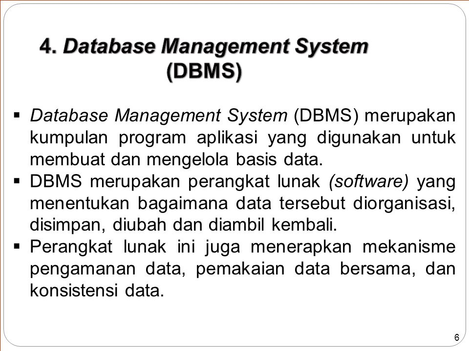 4. Database Management System (DBMS)