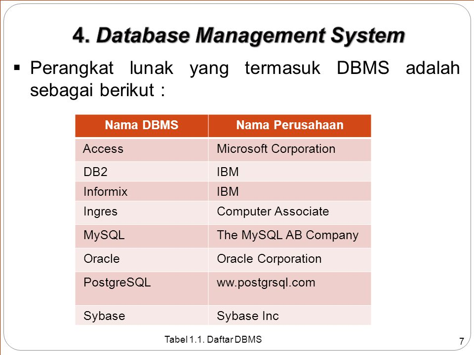 4. Database Management System