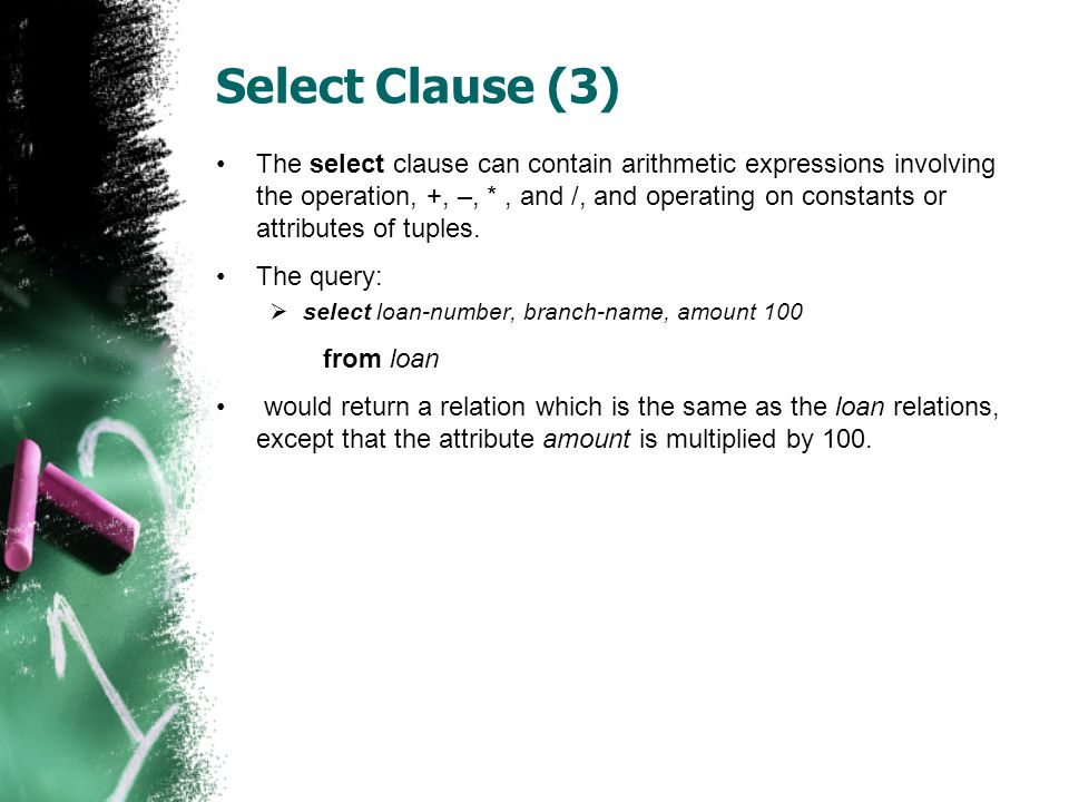 Select Clause (3)