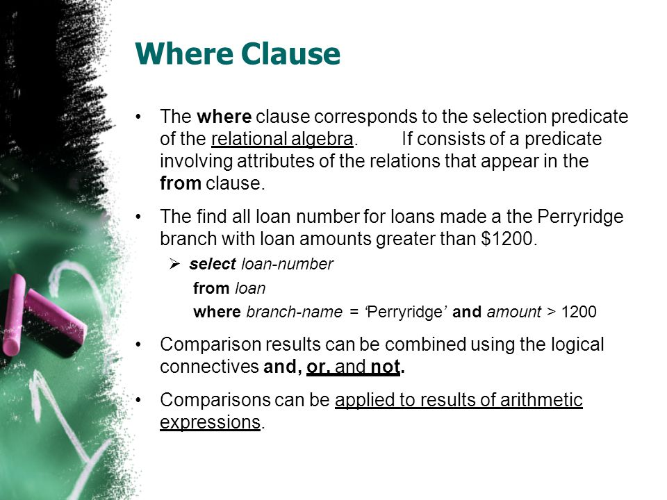Where Clause