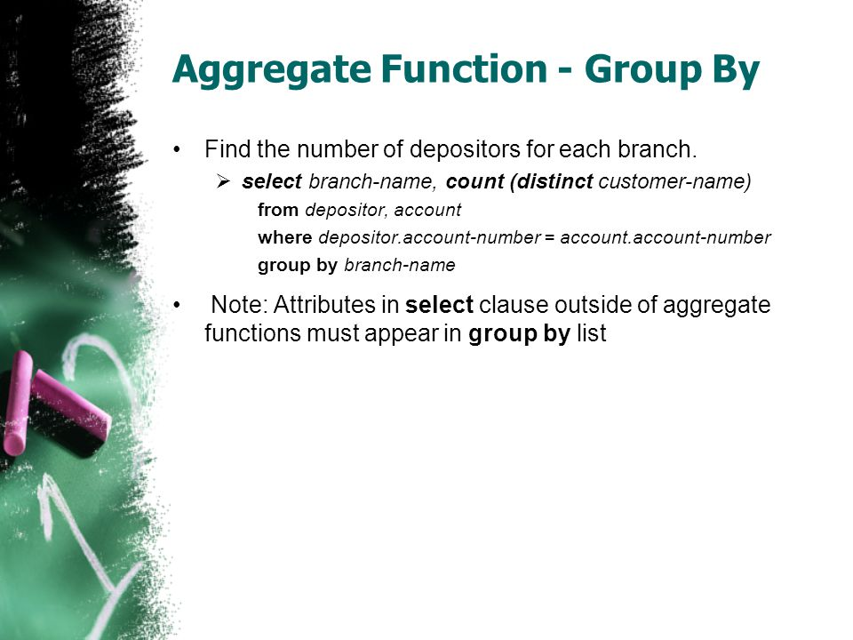 Aggregate Function - Group By