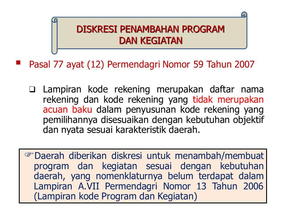 DISKRESI PENAMBAHAN PROGRAM
