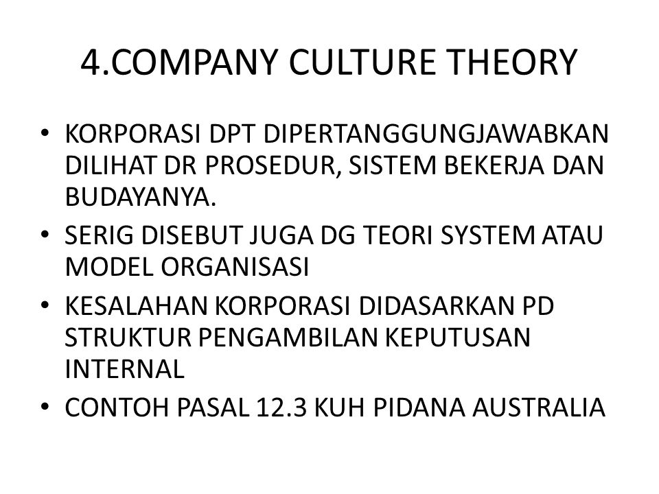 4.COMPANY CULTURE THEORY