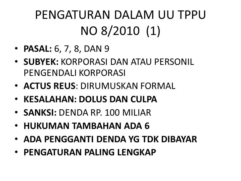 PENGATURAN DALAM UU TPPU NO 8/2010 (1)