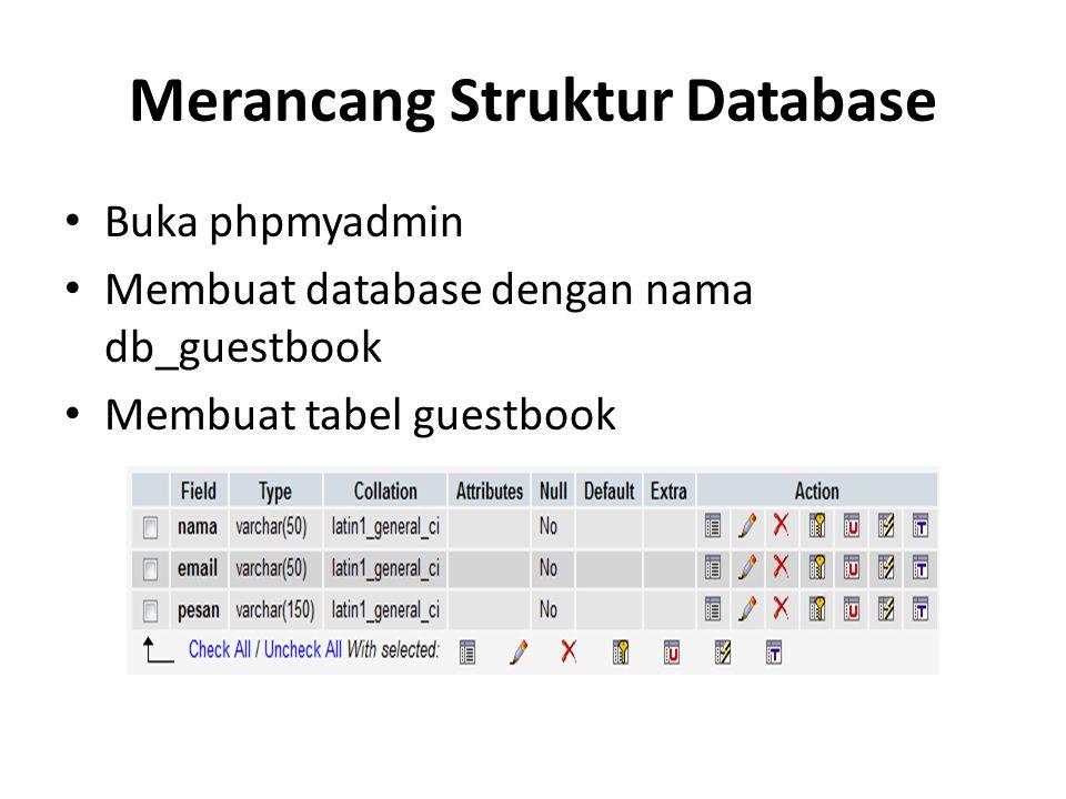 Merancang Struktur Database