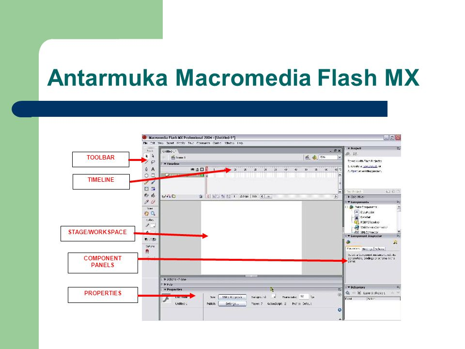 Antarmuka Macromedia Flash MX