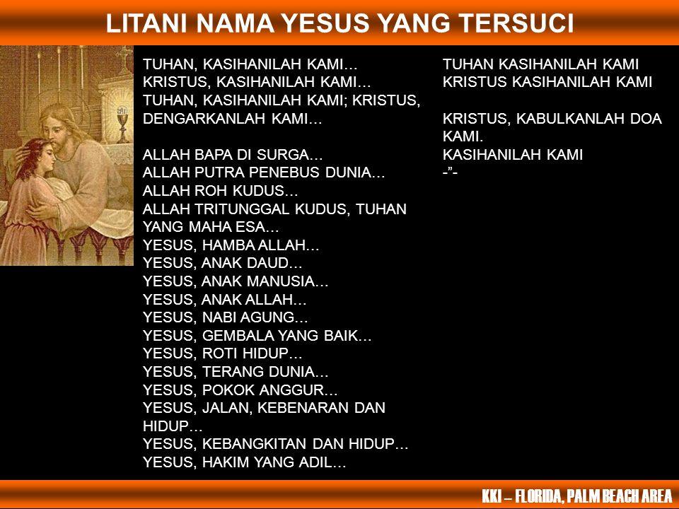 LITANI NAMA YESUS YANG TERSUCI