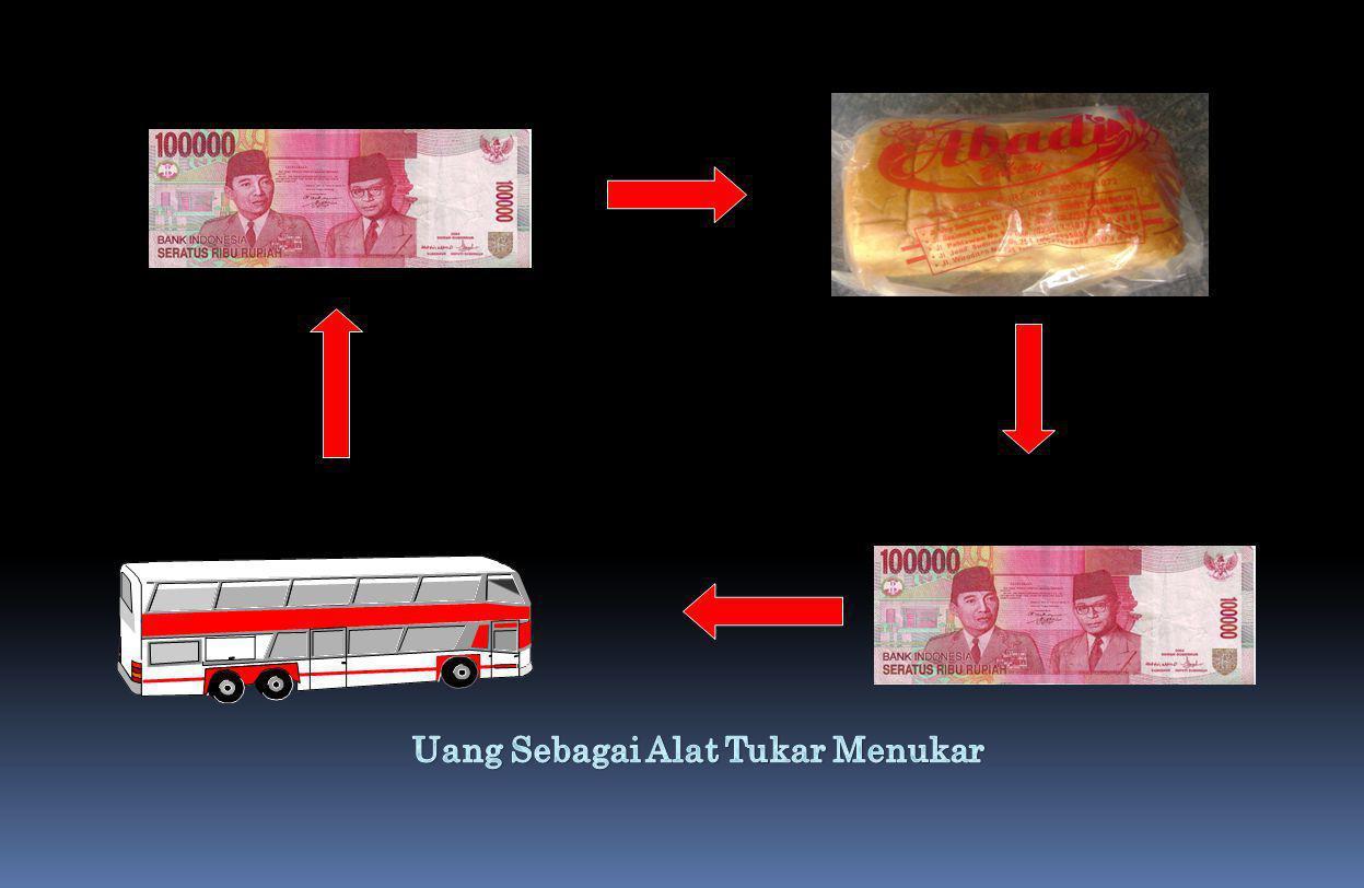Uang Sebagai Alat Tukar Menukar