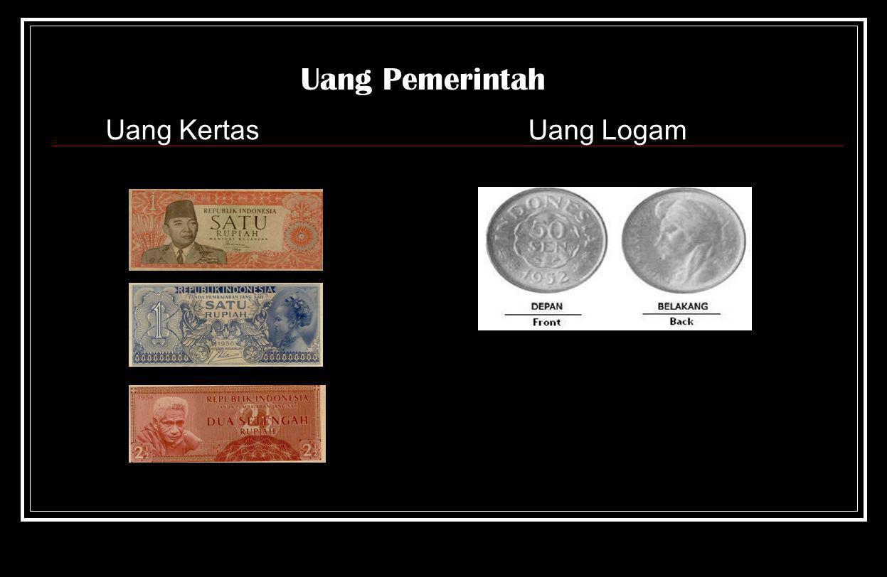 Uang Pemerintah Uang Kertas Uang Logam