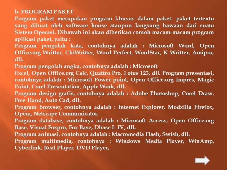 b. PROGRAM PAKET