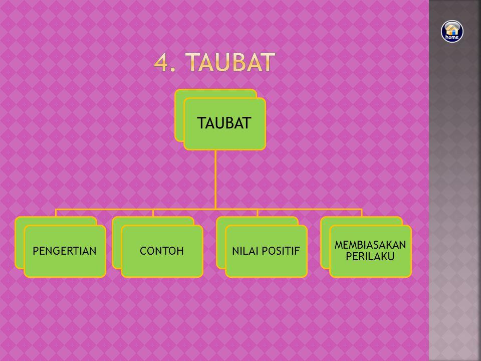4. TAUBAT TAUBAT PENGERTIAN CONTOH NILAI POSITIF MEMBIASAKAN PERILAKU