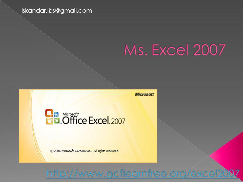 Ms. Excel 2007 http://www.gcflearnfree.org/excel2007