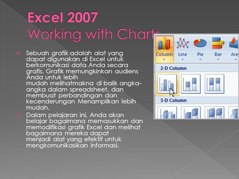 Excel 2007 Working with Charts